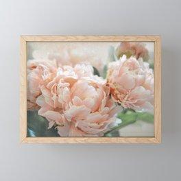 Peach Peonies Framed Mini Art Print