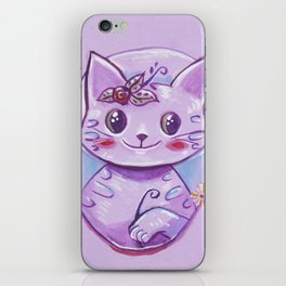Teatime cat iPhone Skin