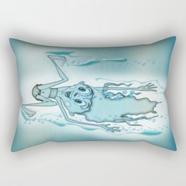 Blue Turquoise Rectangular Pillow