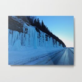 Awesome Ice Wall Metal Print