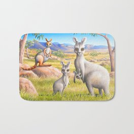 Kangaroo, Wallaby and Joeys Bath Mat
