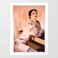 tatoo Art Prints featuring Tatoo by aurora villaviejas