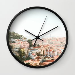 View of Lisbon, Portugal - Wall Art Photo Print Wall Clock