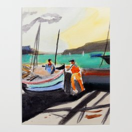 Fishing port Poster