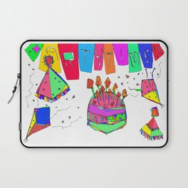 Party Time! party illustration, birthday gift art, graduation, wedding, baby shower, christmas Laptop Sleeve
