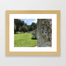 Tabby Houses at Kingsley Plantation Framed Art Print