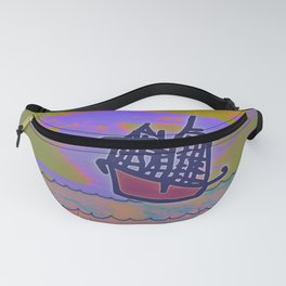 Tribal Ship Following The Star Fanny Pack
