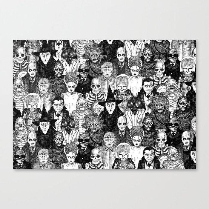 Horror Film Monsters Leinwanddruck