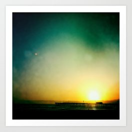 Pier Sunset Art Print