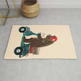 scooter bear Rug