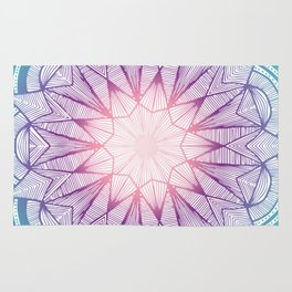 Starflower Mandala Rug