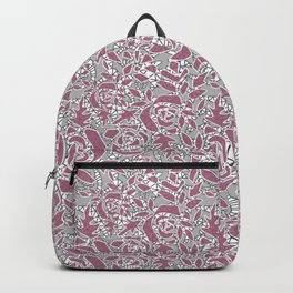 Gray pink lace Backpack