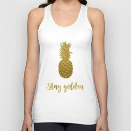 Stay Golden Precious Tropical Pineapple Unisex Tank Top