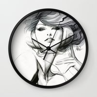 artgerm Wall Clocks featuring Pepper Bella by Artgerm™