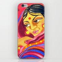 hindu iPhone & iPod Skins featuring Hindu Woman by IlyLilyArt