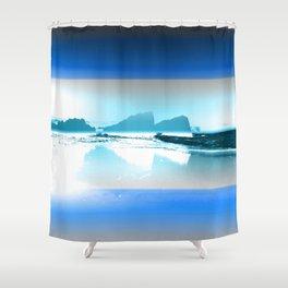 Blue Tint Oregon Coast Shower Curtain
