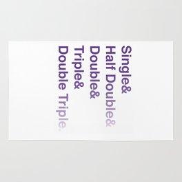 Crochet Helvetica Ampersand Style Rug