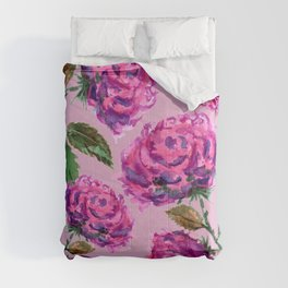 Purple Roses Floral Pattern Comforters