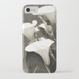 Calla Lily Flower Sepia Photo iPhone Case
