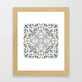 Blue Blue Yellow Framed Art Print