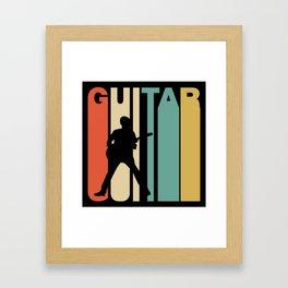 Retro Style Guitar Guitarist Musician Framed Art Print