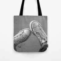 the perks of being a wallflower Tote Bags featuring Wallflower by PopPopPhotography