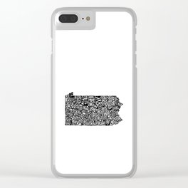 Typographic Pennsylvania Clear iPhone Case
