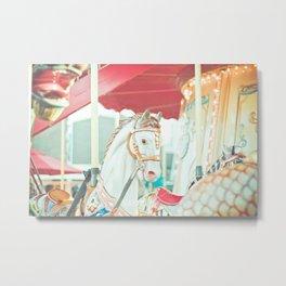 Spinning Carousel Metal Print