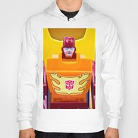 transformer Hoodies featuring G1 Transformers Autobot Rodimus Prime by TJAguilar Photos