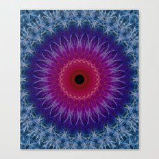 Bohemian mandala in blue and red Canvas Print