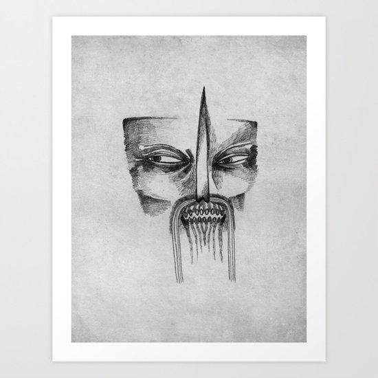Mad Samurai Art Print