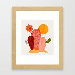 Abstraction_Cactus_&_Sun Framed Art Print