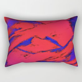 Fractured anger red Rectangular Pillow