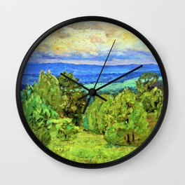 Storm Clouds - Theodore Clement Steele Wall Clock