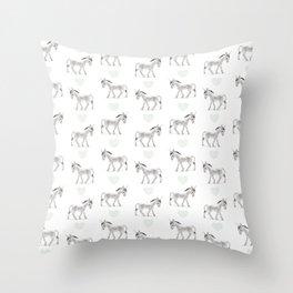 Sweet Donkeys Throw Pillow