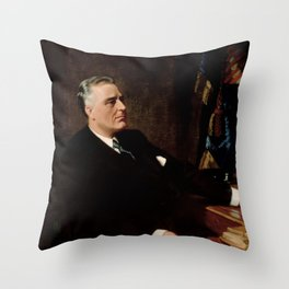 FDR Official Portrait Throw Pillow