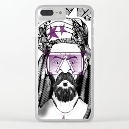 Modern Man Clear iPhone Case