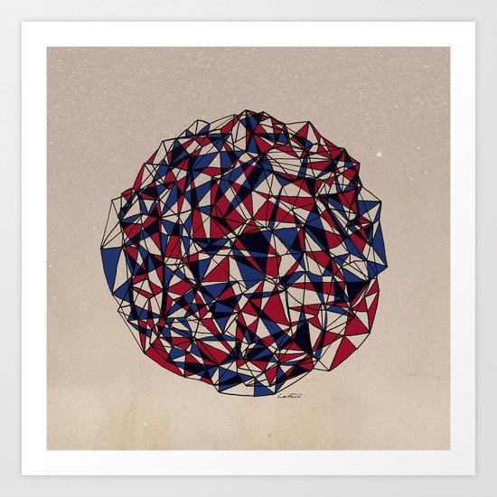 - red blue - Art Print