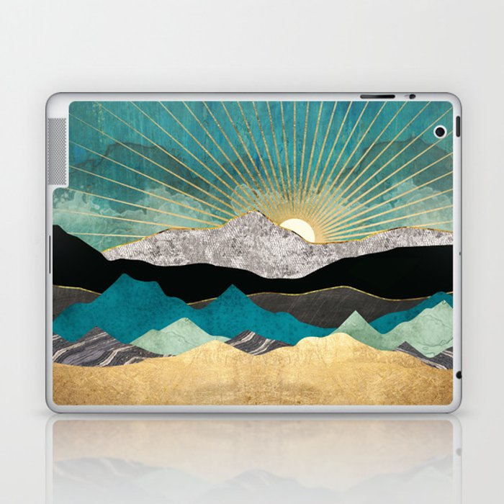 Peacock Vista Laptop & iPad Skin