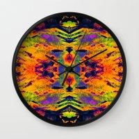 boho Wall Clocks featuring boho by Iris Lehnhardt