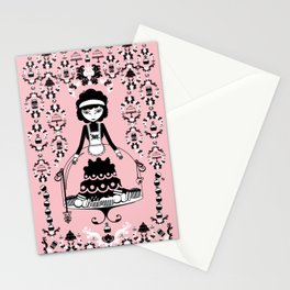 Lady Cake Stationery Cards