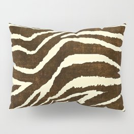 ZEBRA IN WINTER BROWN AND WHITE Pillow Sham