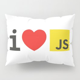 I LOVE JAVASCRIPT Pillow Sham