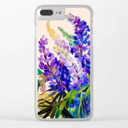 Lupine flowers Clear iPhone Case