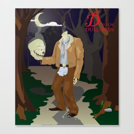 D is for Dullahan Canvas Print