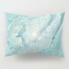 """Aquamarine Pastel and Teal Agate Crystal"" Pillow Sham"