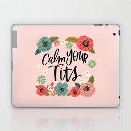 Pretty Swe*ry: Calm Your Tits Laptop & iPad Skin