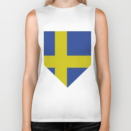 sweden flag Biker Tank
