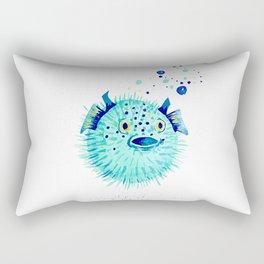 Neptune's Pufferfish Rectangular Pillow
