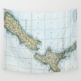 Vintage Map of New Zealand (1921) Wall Tapestry